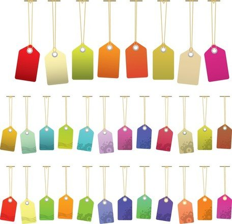 Colorful Vector Tags