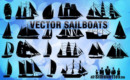 21 Free Vector Sailboats