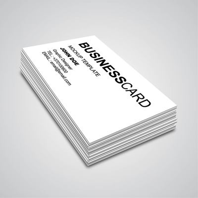 3D Corner Angle Business Card Mockup