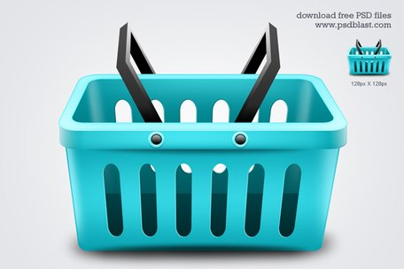 Shopping Basket pictogram (PSD)