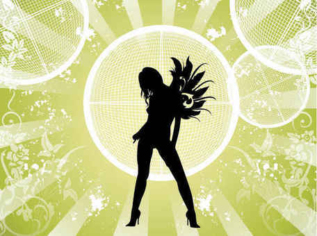 Free Vector Fashion Girl Background