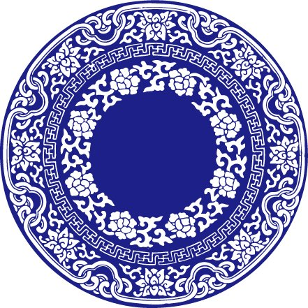 China Wind Vector Blue and White Porcelain