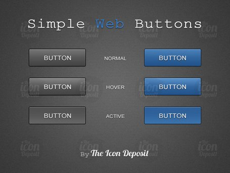 Simple Web knappar