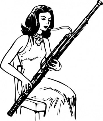 Woman Playing Bassoon