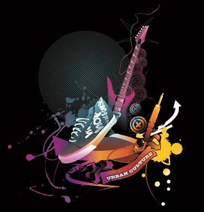 The Trend of Music Illustration Vector Material 4