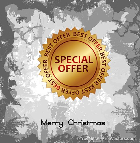 Christmas Offer Sticker Background