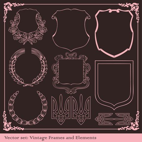 Europeanstyle Lace Border Vector Classic