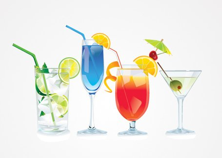 Cocktail vektor illustrationer (gratis)