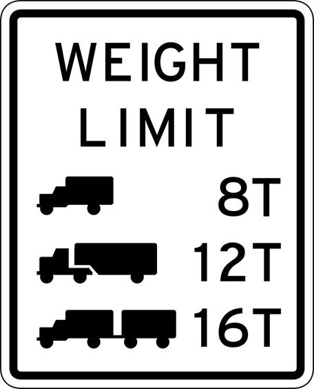 Weight Limit Sign Board