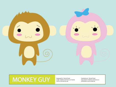 Cute Cartoon Monkey Man