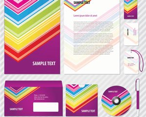Ilustrations stock colorato Corporate Identity