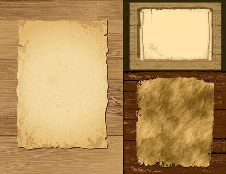Vector old paper and board material
