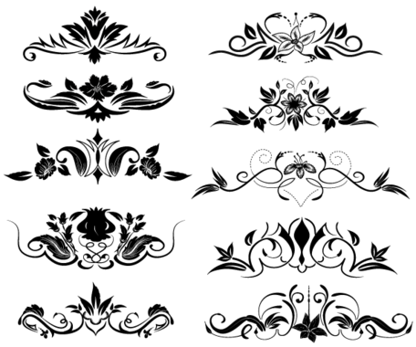 Gratis blomstra ornament Illustrator