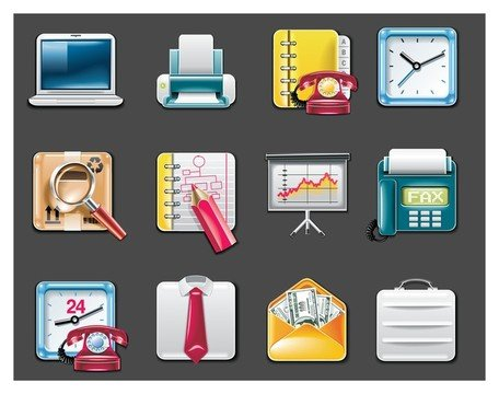 vektor office supplies icon