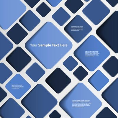 Abstract Blue Background with Rounded Squares