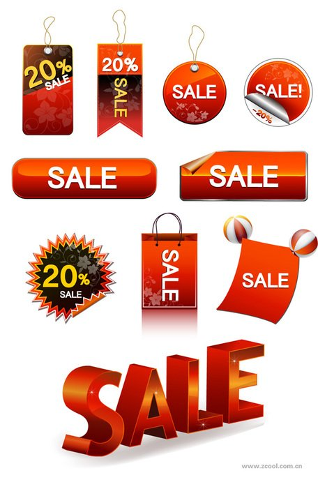 Sale Discount Tag button