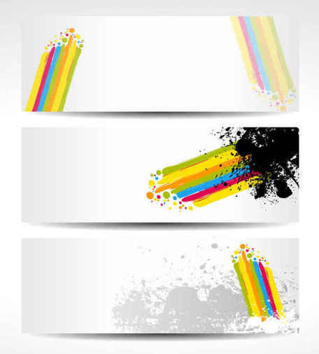 Color Vector Banners Background