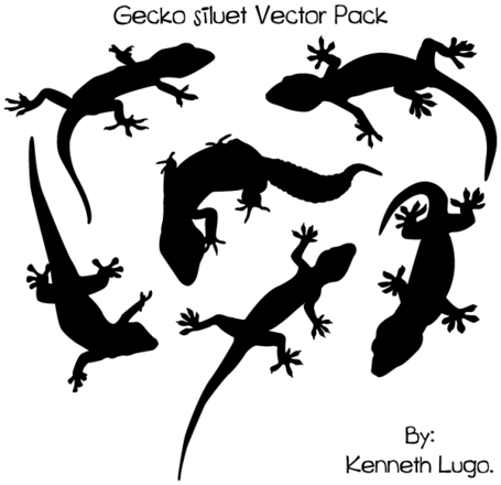 Free Gecko Silhouette Vector Art