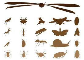 Insect Silhouettes Graphics