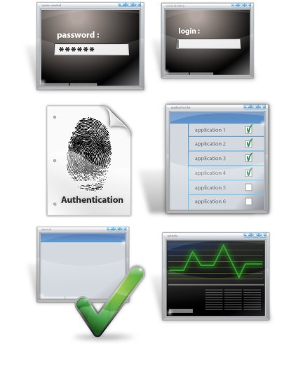 Security icon set 6