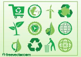 Ecologie Vector Icons