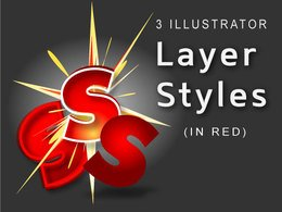 Red Eye Illustrator Layer Styles
