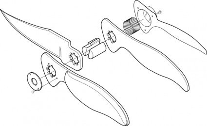 Pocket Knife Exploded View Clip Art Clipart Me