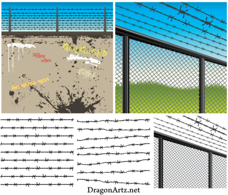 Barbed Wire Vector Eps Free