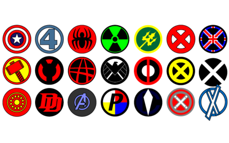 Vector logos Marvel