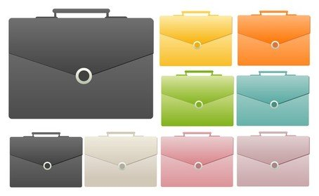 Color briefcase icon
