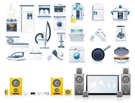Kitchen appliances icon