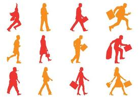 Walking People Silhouettes Pack