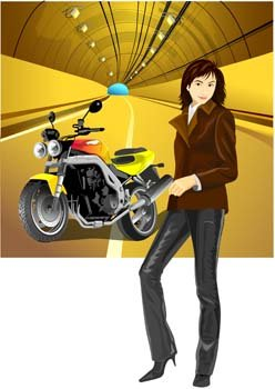 Motorcycle girl 4