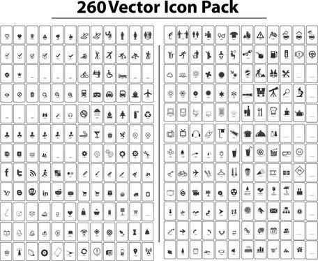 260 Free Vector Icon Pack