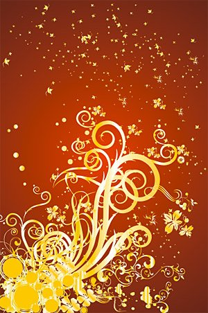 Ornate gold-colored pattern