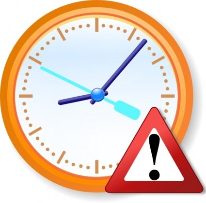 Free Analog Clock Warning Clipart And Vector Graphics