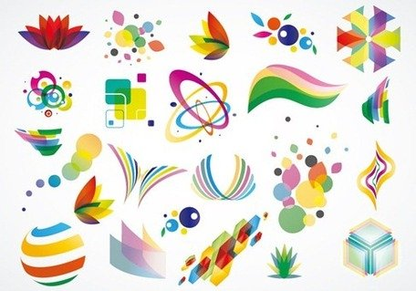 Bunte Logo Design Elementen Vector-Set