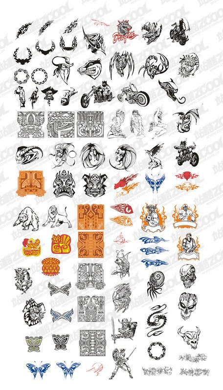 Elements in a variety of classic European trend vector mater
