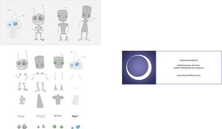Robot Vector montage Kit