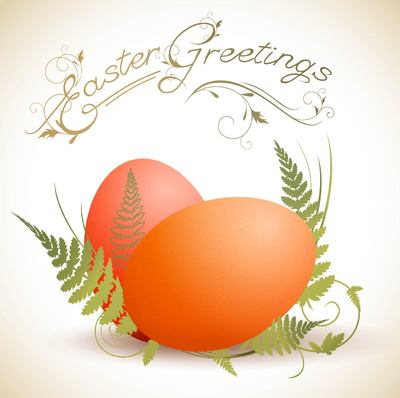 Easter Eggs with Ferns