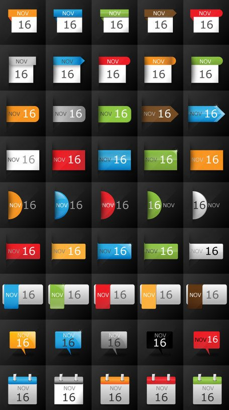 Gratis datum Calendar Icon Set voor Blogs