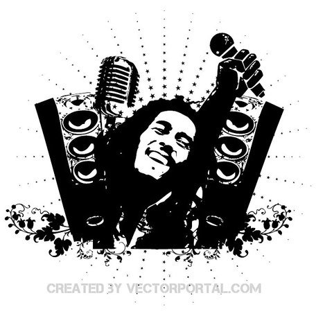 free bob marley tribute vector illustration eps clipart and vector rh clipart me Bob Marley Easy Stencil bob marley silhouette clip art