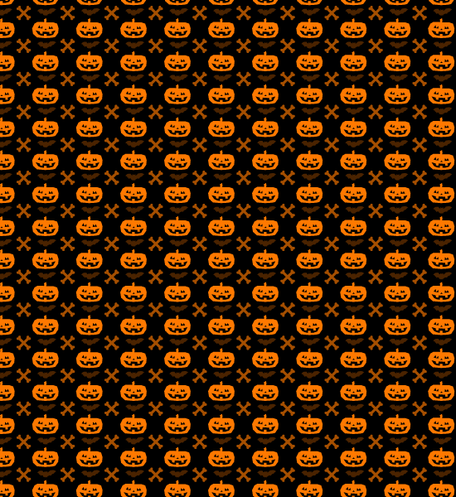 Halloween Pumpkin And Cross Bone Seamless Pattern