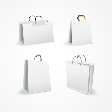 Sac Shopping blanc Vector (libre)