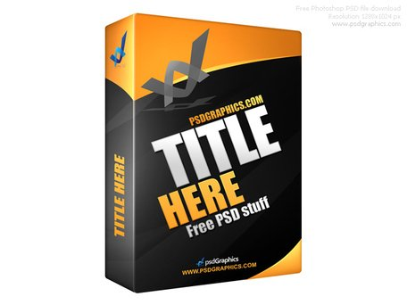 Black software box in PSD format