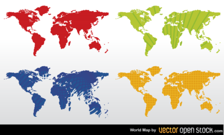 Free color world map vector free clipart and vector graphics color world map vector free gumiabroncs