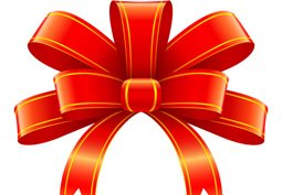 Red ribbon for christmas gift decoration