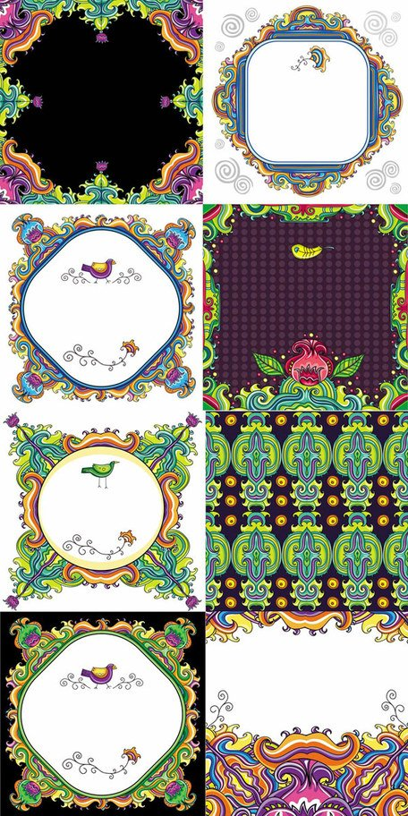Color decorative pattern
