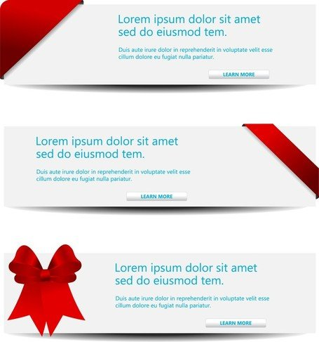 Vector Decorative Content Page Headlines 1
