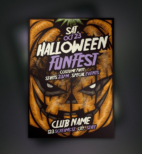 Pompoen Halloween Flyer Template